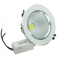 9вт удара LED потолок вниз свет-серебряная раковина Ременный привод 85-265в