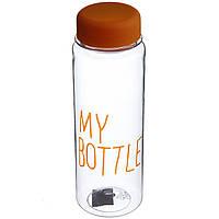 Бутылка для напитков My Bottle + чехол, пластик, Желтая (0426)