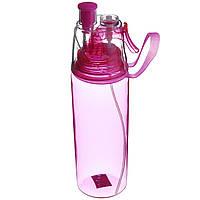 Спортивная бутылка 600 мл (PB-600) Розовая