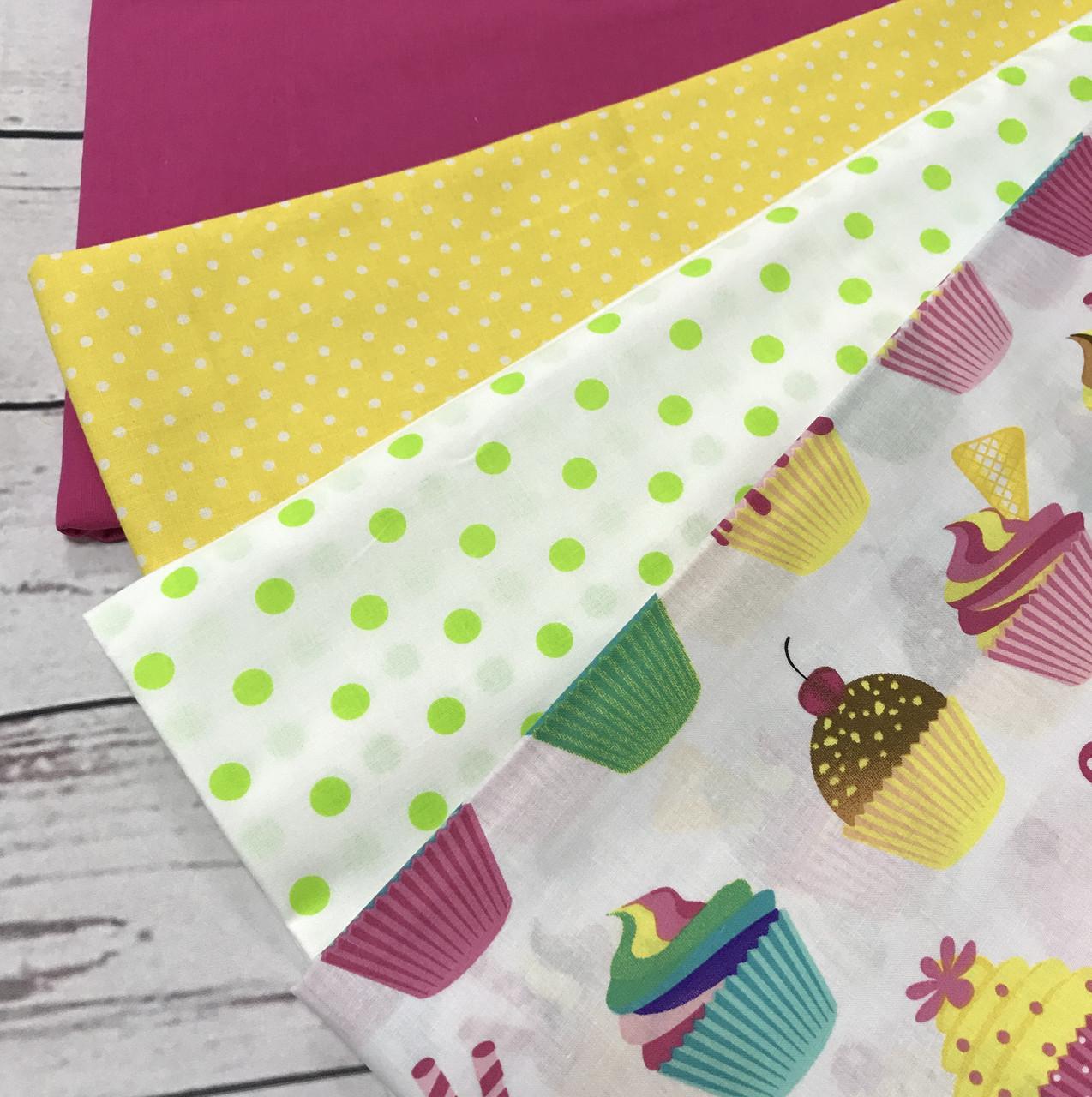 Бавовняна тканина польська (тканини компаньйони тільки для прикладу, не для замовлення)