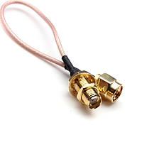 DANIU 5 дюймов Мужской к SMA Женский гайки с обжимным кольцом RG316 Коаксиальный кабель