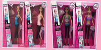 """Кукла типа """"Барби"""" 4вида, в спортивной одежде, сумка, аксессуары, 29801A/B"""