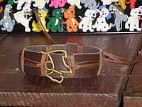 Кожаный браслет СОБАКА коричневый