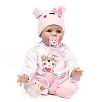 Кукла Полли, реборн, 55см, мягконабивная, в подарочной коробке