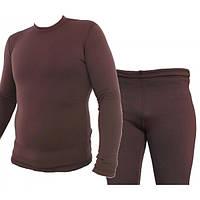 Комплект термобелья (штаны и кофта) Polartec Power Stretch. XL(52-54). Серо-зеленый
