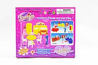 Мебель для куклы Jennifer 2898 для гостинной, шкаф, тумба куклы 2 девочки и мальчик в коробке  20*17*6 см.