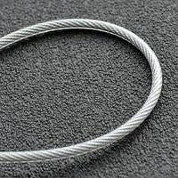 Трос стальной в ПВХ оплетке  6мм (5+1)DIN 3055