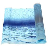 Синее море пейзаж фона аквариума постер
