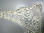 Воротнічок бавовняний мереживо макраме вишивка по сітці, фото 5