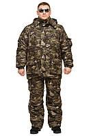 """Теплый костюм """"Клетка  М54"""" для охоты зимней рыбалки  размер 52-54"""