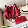 Сумка шоппер красная + красный клатч