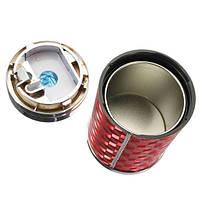 Путешествия на автомобиле LED синий свет сигареты пепельница портативный держатель чашки красный