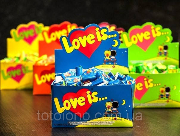 Love is | Жвачка как наполнение свадебных бонбоньерок, фото 1