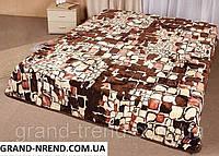 Махровое покрывало на кровать полуторного стандарта - камни