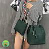 Комплект сумочек зеленого цвета