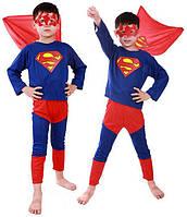 Детский карнавальный костюм Супермена, костюм супер героя Superman