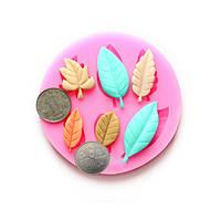 Сделай сам шоколад листьев формирует цветочную форму украшения пирога помадки смолы