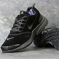 Зимние мужские кроссовки Nike 3809 чёрные замшевые