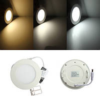 6W Round Ceiling Ultra Thin Panel LED Лампа Light Light 85-265V