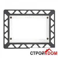Монтажная рамка для установки стеклянных панелей TECEloop на уровне стены TECE 9.240.647 чёрная