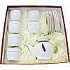 Набор чайный 13 предметов Interos Снежная королева PT0442-A 6 чаш, с блюдцами 240 мл,зав, 850 мл