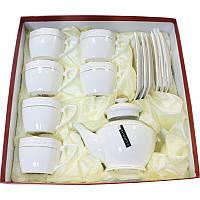 Набор чайный 13 предметов Interos Снежная королева PT0442-A 6 чаш, с блюдцами 240 мл,зав, 850 мл, фото 1