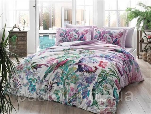 TAC сатин Digital Calena lila евро комплект постельного белья