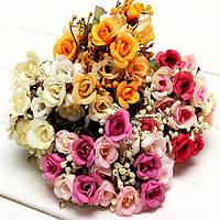 Искусственные розы цветы из шелка дома номер партии декор
