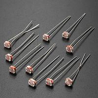 10 шт 5мм gl5516 света зависит резистор фоторезистора LDR