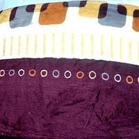 Махровое покрывало на кровать полуторное - кубики