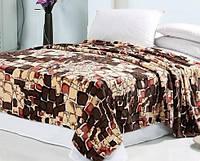 Махровое покрывало на кровать полуторное - узор камней