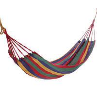 Портативный хлопок веревки гамак качели гамак ткани кемпинг холст кровать