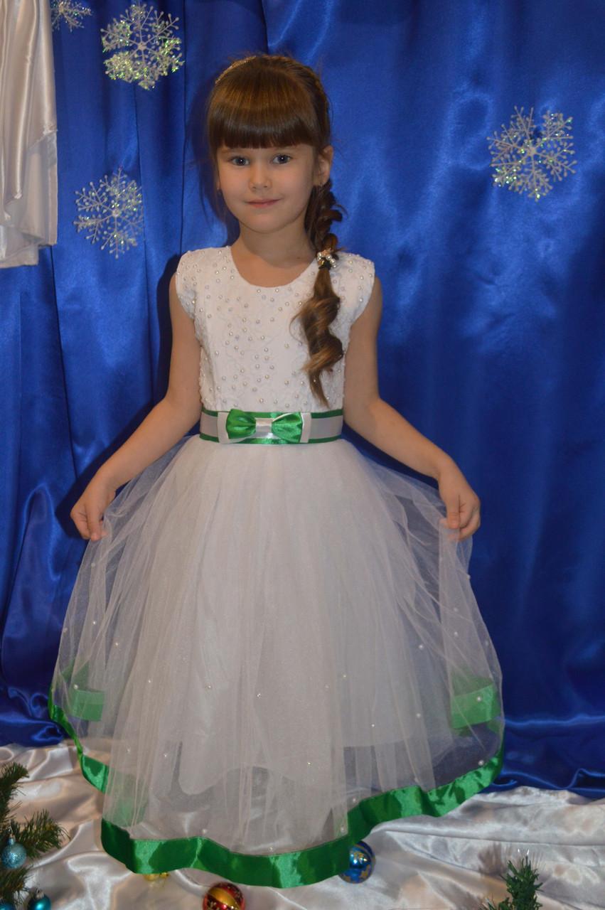 1c6d1a16663 Красивое белое платье для девочки - Интернет-магазин