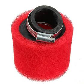 Мотоцикл двойного пены воздушный фильтр производительность красный цвет 1TopShop