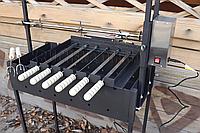 Мангальный комплекс Кручень с электроприводом для 6 шампуров и вертела до 10 кг - Мангал