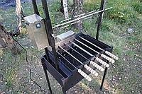 Мангальный комплекс с электроприводом для шампуров и вертела - Мангал с электроприводом