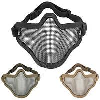 Половина лица металла стальная сетка маска сетка для мотоцикла тактической охоты