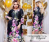 Очень красивое женское платье из принтованого шёлка 46 по 56 размер