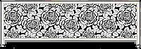 Экран под ванну Комфорт-Арт 150*50 см (розы)