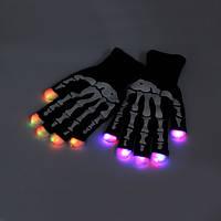7 режим LED Finger перчатки светового мигающего Rave игрушки Танцевальная вечеринка
