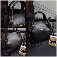 Женская сумка Michael Kors с металическими ручками черная арт 07030