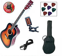 Немецкая гитара MSA 4/4 +тюнер +чехол и др,3 цвета