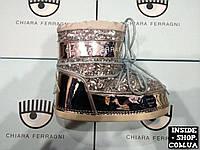 Сноубутсы CHIARA FERRAGNI MoonBoot (пайетки) Silver
