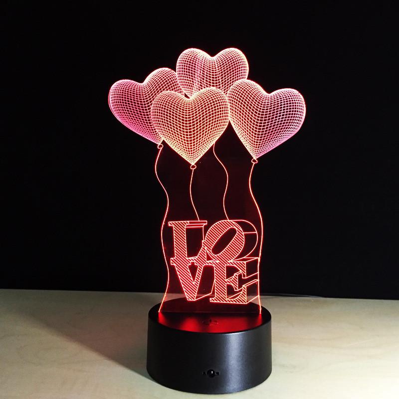 Сменная пластина на 3D светильник, Любовь