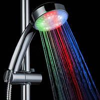 LED мульти-Цветовая температура датчика ванная комната ручным душем голову