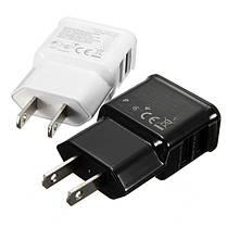 2 двойные порты USB США Plug зарядное устройство адаптер для iPhone смартфоне, фото 3