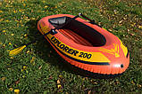 Надувная лодка гребная Explorer Intex 58331, весла, насос, надувное дно, резиновые лодки, фото 3