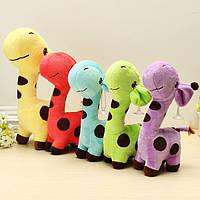 Разноцветный шарж плюшевые жираф пятнистый олень мягкие игрушки детям подарок