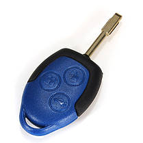 Форд Транзит подключить 3 кнопки дистанционного ключа синий чехол с uncut клинок, фото 2