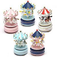 Дети Карусель Music Box Merry Go Round Музыкальные игрушки Devolopment декор комнаты